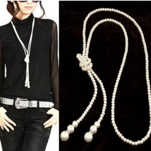 Jewelry - Boho Pearl Long Necklace chain jewelry